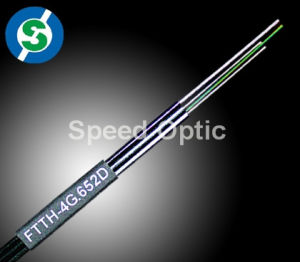 2 FRP 1 Steel Rod Bow-Type FTTH Drop Cable