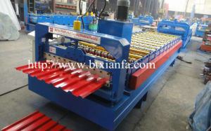 Trapezoidal Profile Steel Roof Sheet Roll Forming Machine (XF20-135-1080)