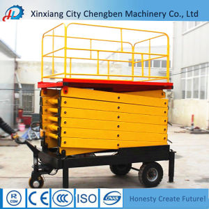 Ce Approved Hydraulic Mobile Trailing Scissor Lift for Building pictures & photos