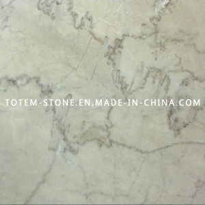 Cheap Natural Cloudy Cream Marble Stone for Flooring, Paving pictures & photos