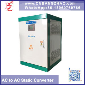 1 pH 220V to 3 pH 380V Voltage and Frequency Converter with 25kw Power Output pictures & photos