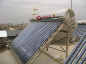 Compact Pressurized Heat Pipe Solar Hot Water Heater pictures & photos