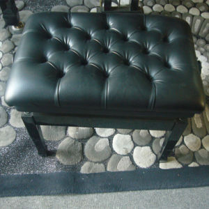 Hot Sales Black Adjustable Leather Piano Stool pictures & photos