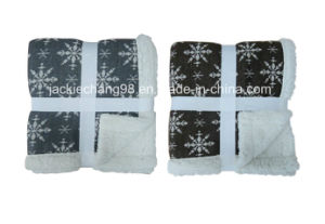 Cable-Knit Blanket with Sherpa Backing Printing pictures & photos