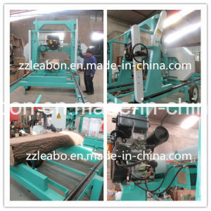 Cutting Large Wood Use Horizontal 25HP Diesel Portable Sawmill pictures & photos