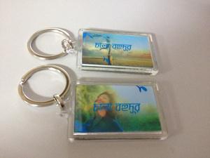New Arrival Pet PP Plastic 3D Lenticular Plastic Keychain pictures & photos