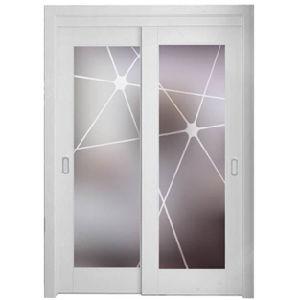 China Lacquer Wood Frame Tempered Glass Interior Door China Door Interior Door