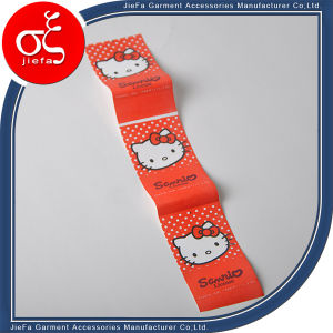 Cute Hello Kitty Printed Label/Brand Logo Printing Polyster Label pictures & photos