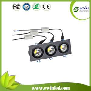 White 4000k-4500k 3*6W Square LED Downlight with CE/RoHS Approved pictures & photos