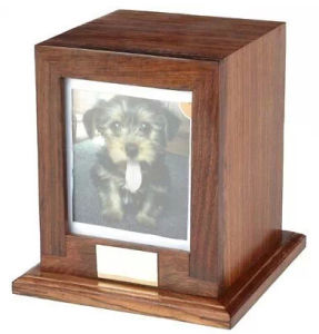 Wooden Funeral Caskets with Photo Window pictures & photos