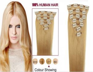 Direct Factory Price Top Quality European Remy Clip in Human Hair Extension pictures & photos