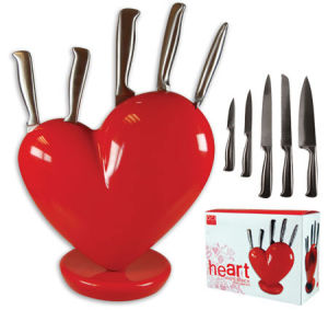 Heart Knife Block Red (HKB1223) pictures & photos