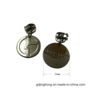 Round Shape Logo Zipper Puller Zipper Tag pictures & photos