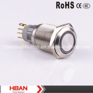 New 16mm Large LED Ring Illuminated Switch pictures & photos
