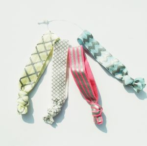 Children′s Printed Knotted Hair Ties pictures & photos