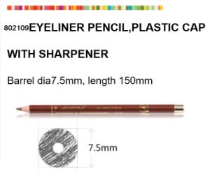 Wooden Eyeliner for Makeup with Plastic Sharpener Cap pictures & photos