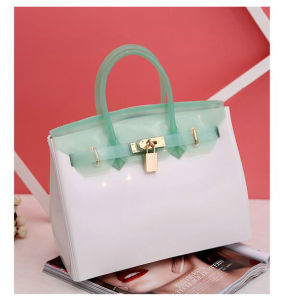 Candy Color Silicone Jelly Bag Italy Designer Rubber Silicone Tote Bag