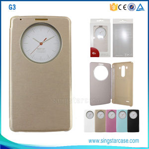 High Quality Leather Case for LG G3, Window Cell Phone Case for LG G3, Leather Flip Case Cover for LG G3 pictures & photos