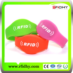 MIFARE Plus Colorful RFID Wristband for Event pictures & photos