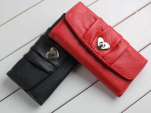 Heart Shape Turnlock Women Wallet (E13044)