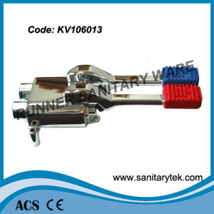 Double Foot Operated Floor Mounted Mixing Valve (KV106013) pictures & photos