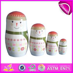 2014 Small Beauty Ceramic Russian Matryoshka Dolls, Wooden Hand Painted Nesting Dolls Custom Matryoshka Dolls Factory W06D033 pictures & photos