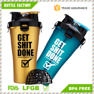 2 in 1 Twin Pack BPA Free Plastic Dual Shaker Bottle pictures & photos