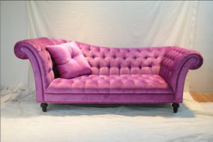 French Style Fabric Sofa Wooden Sofa (SF-2806)