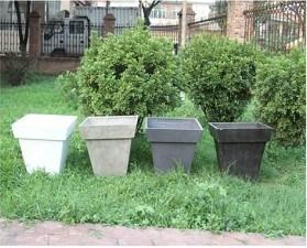 Bonsai Square Fiberglass Garden Pot for Garden Decorations