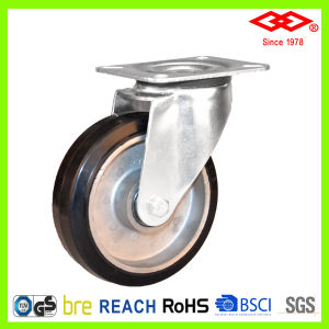 100mm Aluminium Hub Rubber Wheel Industrial Caster (P102-73FA100X40) pictures & photos