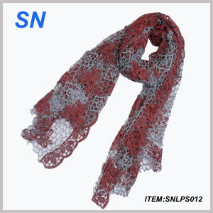 2014 New Style Popular Lace Scarf (SNLPS012) pictures & photos