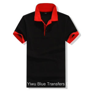 Polo T-Shirts in Cotton in Contrast Color pictures & photos