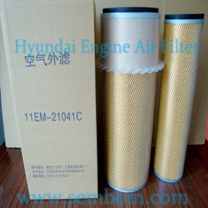 High Performance Engine Air Filter for Hyundai Excavator/Loader/Bulldozer