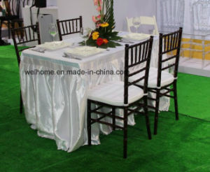 Mahogany Wooden Chiavari Chair with White Cushion pictures & photos