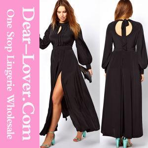 Women Black Maxi Evening Prom Long Plus Size Dress pictures & photos
