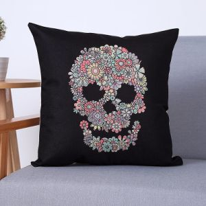 Digital Print Decorative Cushion/Pillow with Skulls Pattern (MX-82) pictures & photos