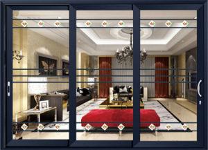 Fashion Grill Design Stack Aluminium Sliding Door pictures & photos