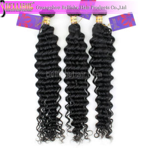 High Quality 100% Virgin Human Hair Extension 6A Deep Wave Hair