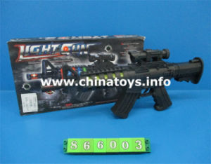Hot Selling Power Game B/O Gun with Flsahlight (866003) pictures & photos