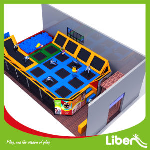 Enjoyable Jumping Indoor Trampoline with Safety Enclosure pictures & photos
