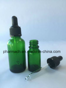 Green Essential Oil Glass Dropper Pipette Bottle for Lavender, Massage Oil pictures & photos
