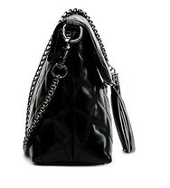 Fashion Lingge Tassel Bag Chain Bag (LDO-01635) pictures & photos