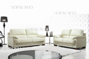 White Color Genuine Leather Home Sofa pictures & photos