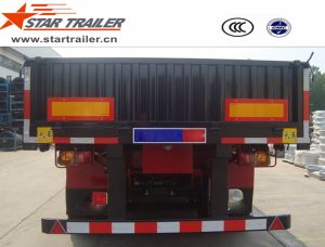 3 Axles Drop-Side Cargo Transport Semi-Trailer pictures & photos