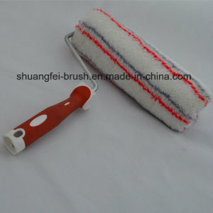 25cm 18mm Multicolor Soft (red & grey stripe)) Acrylic Paint Roller Cover with 8mm Rod Soft Handle pictures & photos