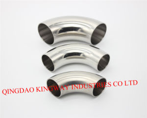 Stainless Steel Sanitary 3A Welded Elbow 45 pictures & photos