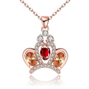 Foreign Trade Sales Popular Crown Zircon Pendant Necklace Rose Gold Plated Jewelry pictures & photos