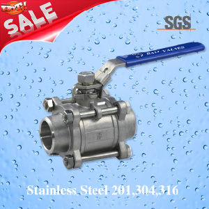 3PC Female Welding Ball Valve, Stainless Steel 201, 304, 316 Valve, Q11f Ball Valve pictures & photos