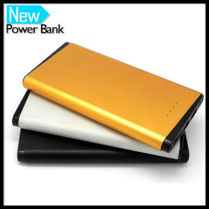 High 12000mAh Portable Charger with Fashion Chrome Shape