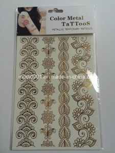 Color Metallic Temporary Tattoo Sticker (15*21cm) pictures & photos
